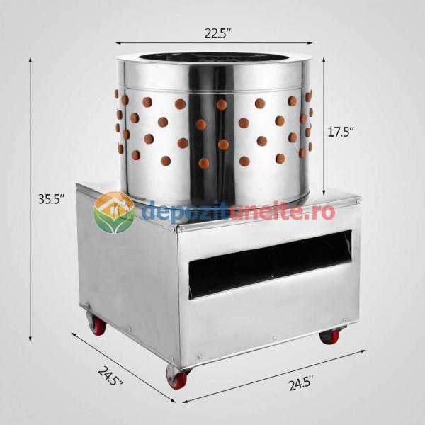 Deplumator electric automat PROFESIONAL jumulitor pentru pasari 230V - 2200W 1