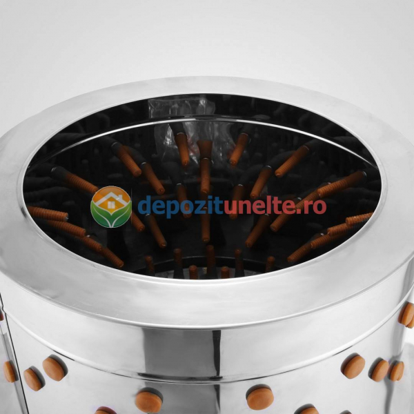 Deplumator electric automat PROFESIONAL jumulitor pentru pasari 230V - 2200W 4