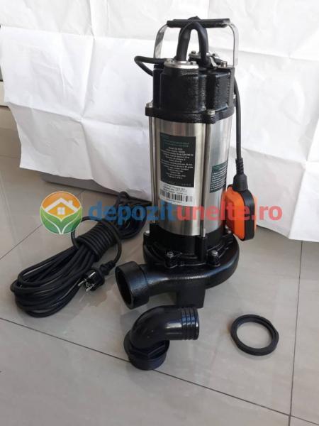 Pompa apa submersibila WQD1500DF 1500W cu tocator Deetoolz 6