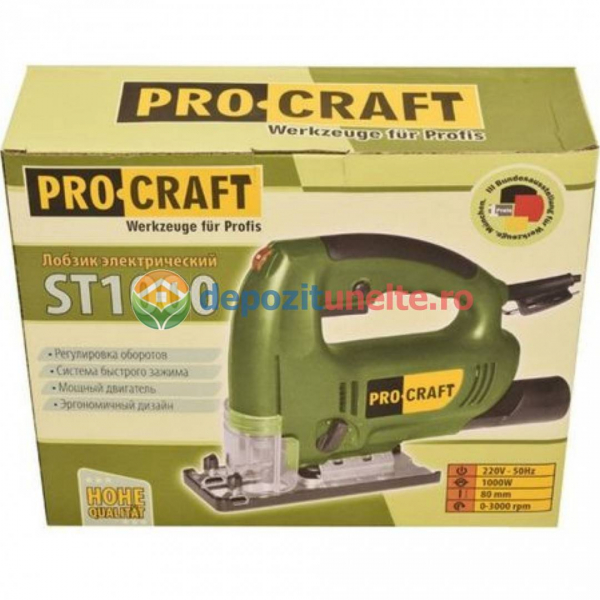 Ferastrau pendular ProCraft ST 1000W, 80mm, 45gr 4