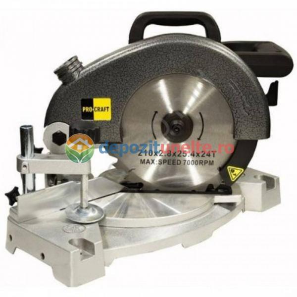 Fierastrau circular cu suport Procraft PGS2100, diametru disc 210 MM, 220 V, 2100W 1