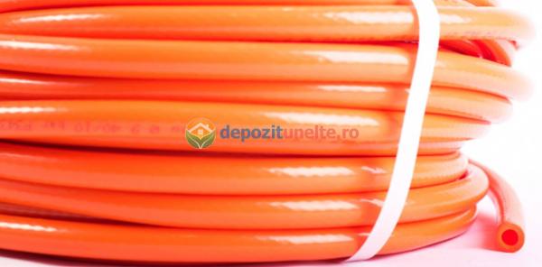 Furtun pvc portocaliu 8mm 25m 1