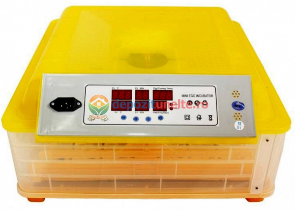 Incubator automat 48 oua de gaina si 132 oua de prepelita , clocitoare cu intoarcere automata si controlul umiditatii MODEL 2018 2