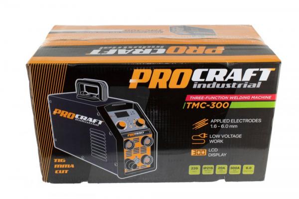 Invertor Plasma Procraft TMC 300, 3 in 1, MMA, TIG + Accesorii, Gama Profesionala 3