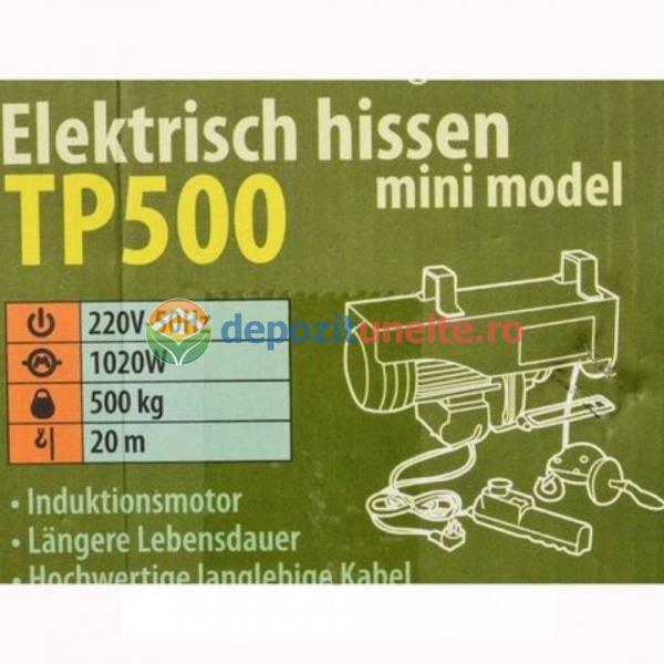 MACARA ELECTRICA PROCRAFT TP500, 1020W, 500KG, PALAN SCRIPETE ELEVATOR 2