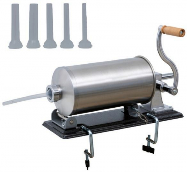 Masina de carnati 5.5kg ORIZONTAL MICUL FERMIER (YG-2010PA) + 5 PALNII + MANUSI 1