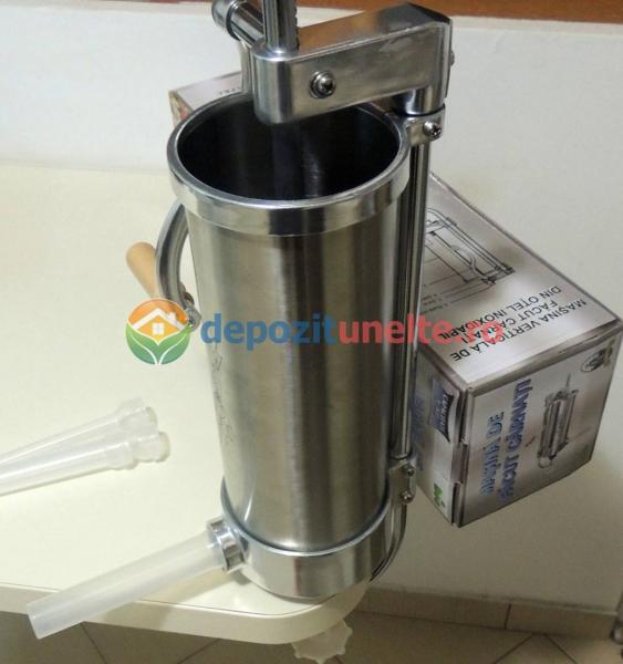 Masina de facut carnati 3kg Micul Fermier - Vertical 2