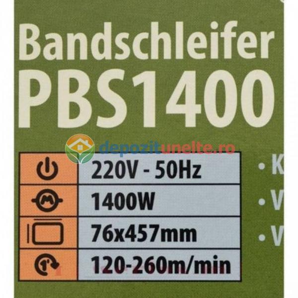 Masina de slefuit ProCraft PBS1400, 120-260 m/min, 457 mm x 76 mm, 1400W 4