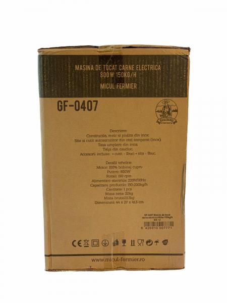 Masina de tocat carne electrica - profesionala INOX 850W 150k/ora MK-12 Alpin Profi [17]