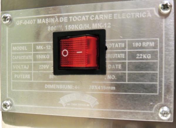 Masina de tocat carne electrica - profesionala INOX 850W 150k/ora MK-12 Alpin Profi [8]