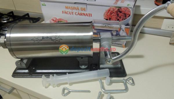 Masina de umplut carnati 4kg Micul Fermier - Orizontal 4