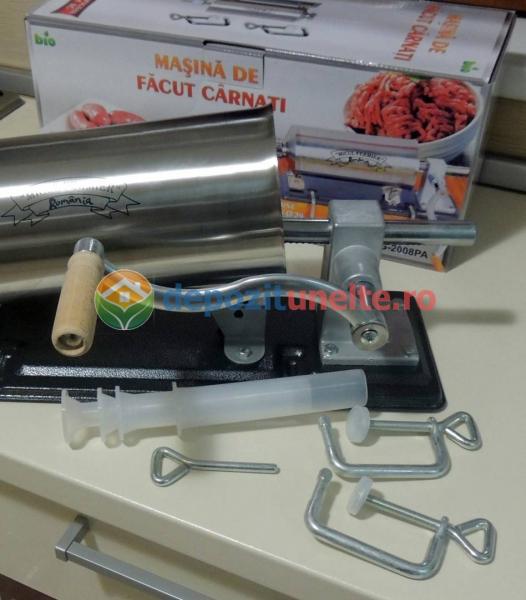 Masina de umplut carnati 4kg Micul Fermier - Orizontal 10