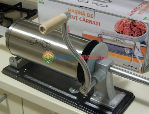 Masina de umplut carnati 4kg Micul Fermier - Orizontal 11