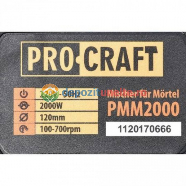 MIXER MATERIALE CONSTRUCTII PROCRAFT PMM2000, 2000W, 700RPM 5