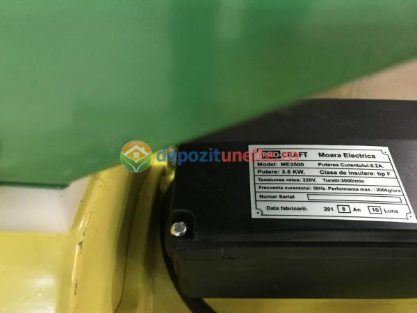 Moara electrica Procraft ME3500, 3.5 Kw, 3000RPM, 200KG/H, bobinaj 100% cupru 1
