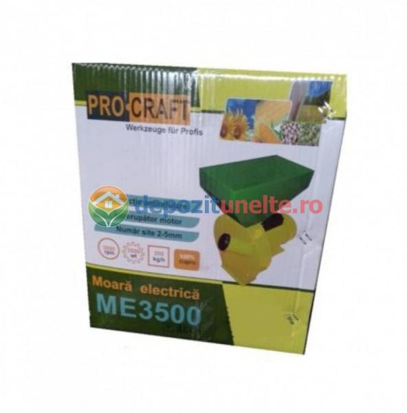 Moara electrica Procraft ME3500, 3.5 Kw, 3000RPM, 200KG/H, bobinaj 100% cupru 5