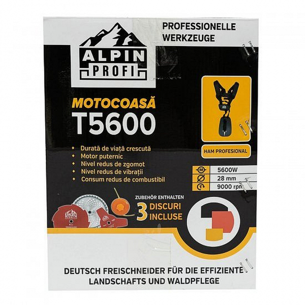 Motocositoare Alpin Profi T5600, motor 4 timpi - 5600W -  62CC 7CP  , accesorii incluse  - 4 moduri de taiere 5