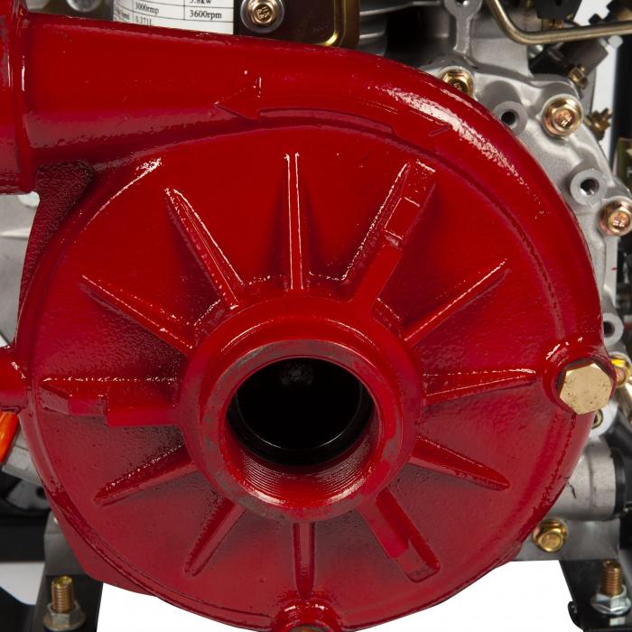 Motopompa diesel de presiune, putere 7 CP, Diesel, absortie/refulare 2''/2'' (50 mm) , pornire la sfoara,motor in 4 timpi, presiune 6 bari 2