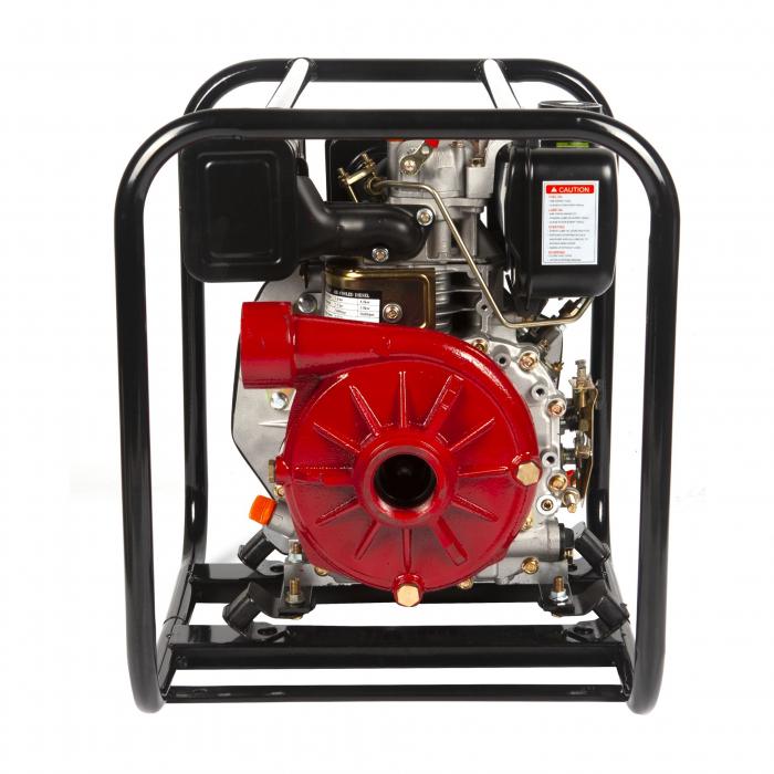 Motopompa diesel de presiune, putere 7 CP, Diesel, absortie/refulare 2''/2'' (50 mm) , pornire la sfoara,motor in 4 timpi, presiune 6 bari 1