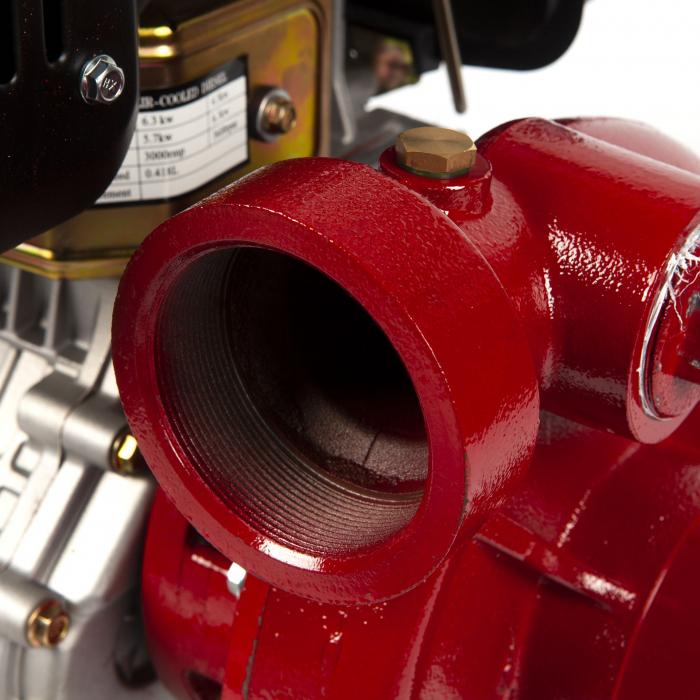 Motopompa presiune ,putere 9,8 CP, diametru absortie/refulare 3''/3'' (80 mm),diesel,presiune 4,5 bari,motor 4 timpi racit cu aer 8