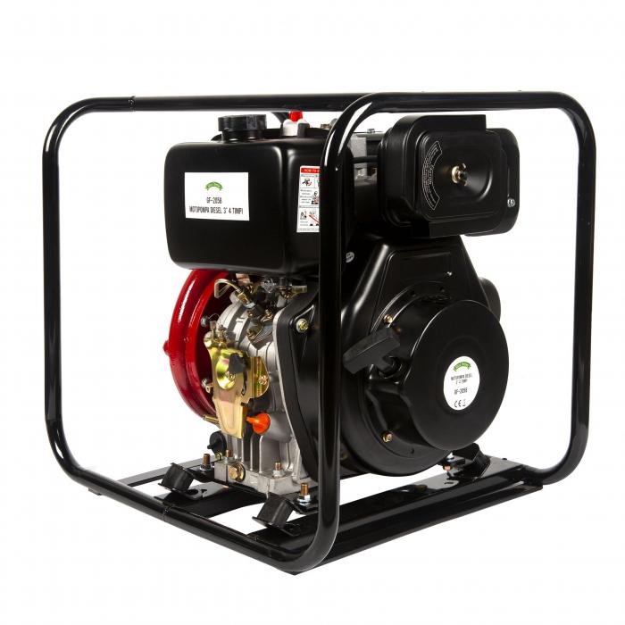 Motopompa presiune ,putere 9,8 CP, diametru absortie/refulare 3''/3'' (80 mm),diesel,presiune 4,5 bari,motor 4 timpi racit cu aer 5