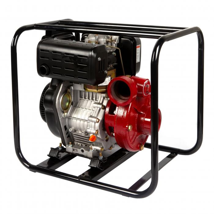 Motopompa presiune ,putere 9,8 CP, diametru absortie/refulare 3''/3'' (80 mm),diesel,presiune 4,5 bari,motor 4 timpi racit cu aer 0