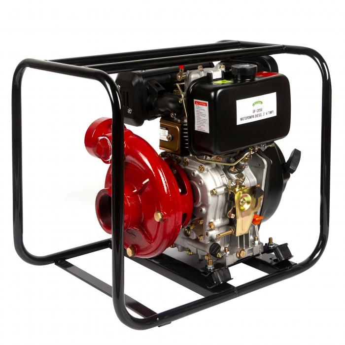 Motopompa presiune ,putere 9,8 CP, diametru absortie/refulare 3''/3'' (80 mm),diesel,presiune 4,5 bari,motor 4 timpi racit cu aer 2