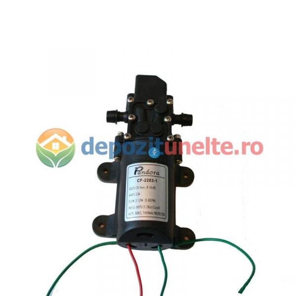 Pompa de presiune cu motor de 12 Vcc pentru pompa de stropit electrica Pandora - iesire pe ștuț 0