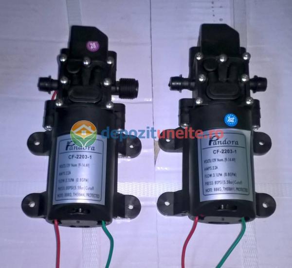 Pompa de presiune cu motor de 12 Vcc pentru pompa de stropit electrica Pandora - iesire pe ștuț 2