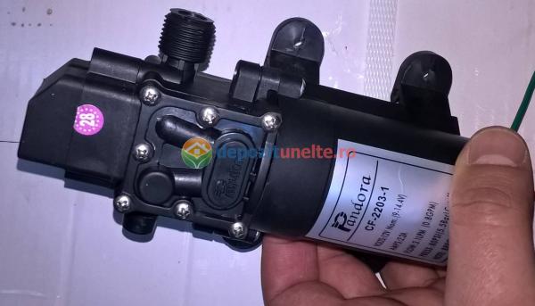 Pompa de presiune cu motor de 12 Vcc pentru pompa de stropit electrica Pandora - iesire pe ștuț 8