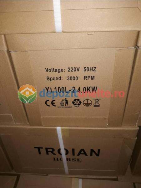 Motor electric monofazat 4kw, 3000rpm Troian Rosu
