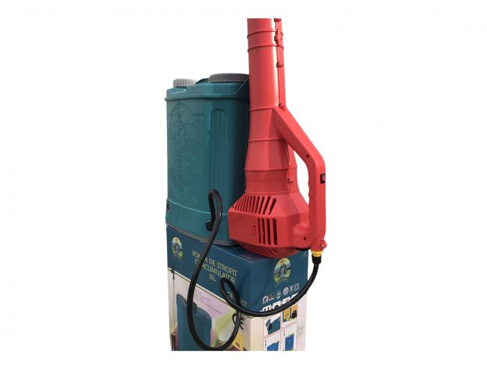Pachet Protectia plantelor - Pompa de stropit electrica cu acumulator Pandora 16 Litri -12V 8Ah cu regulator de presiune + Atomizor electric portabil ELEFANT cu spatiu montaj acumulator ( suflanta [4]
