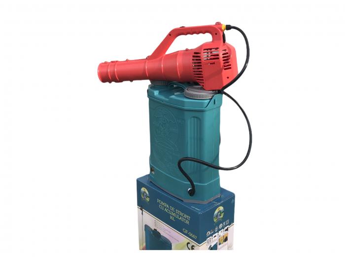 Pachet Protectia plantelor - Pompa de stropit electrica cu acumulator Pandora 16 Litri -12V 8Ah cu regulator de presiune + Atomizor electric portabil ELEFANT cu spatiu montaj acumulator ( suflanta [3]