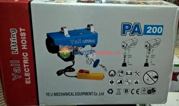 PALAN ELECTRIC 200 KG ( Macara / Lift cu cablu de otel, troliu) PA 200 3