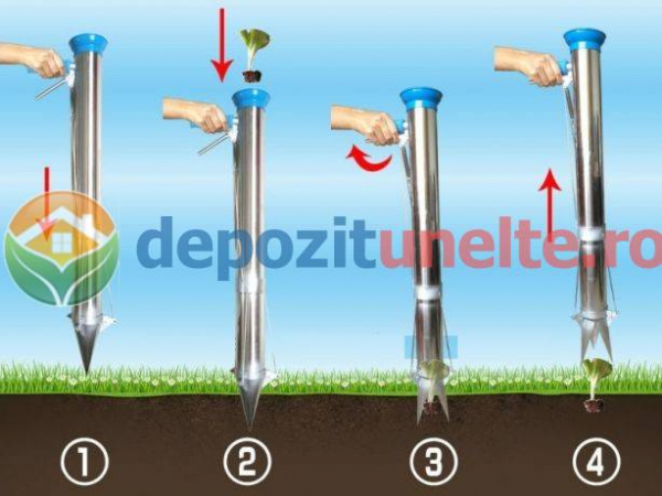 Plantator rasaduri, rosii, ardei, bulbi, cartofi INOX si OTEL INOXIDABIL 2