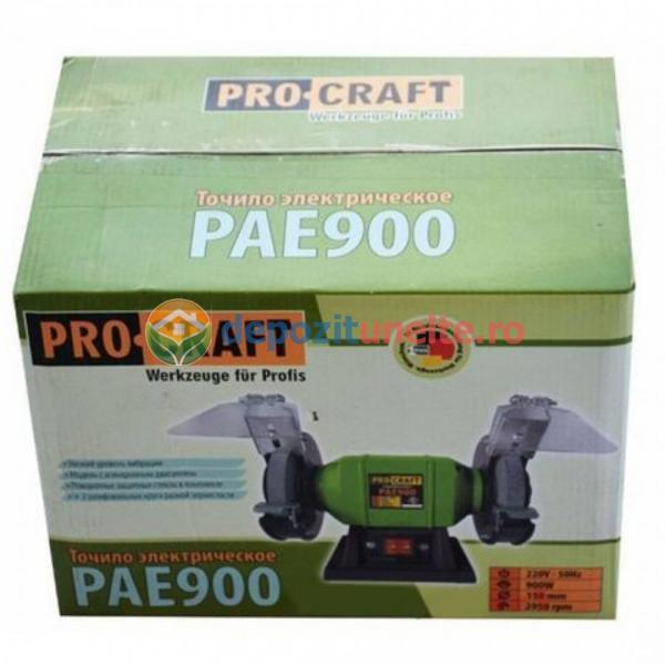 Polizor de banc 900W, 150mm + 2 Discuri, PROCRAFT PAE900, Model 2019 3