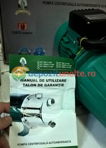 "Pompa apa de suprafata JET100L , 1500W, 1"" tol, 9 m 100% CUPRU 5"
