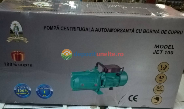 "Pompa apa de suprafata JET100L , 1500W, 1"" tol, 9 m 100% CUPRU 7"