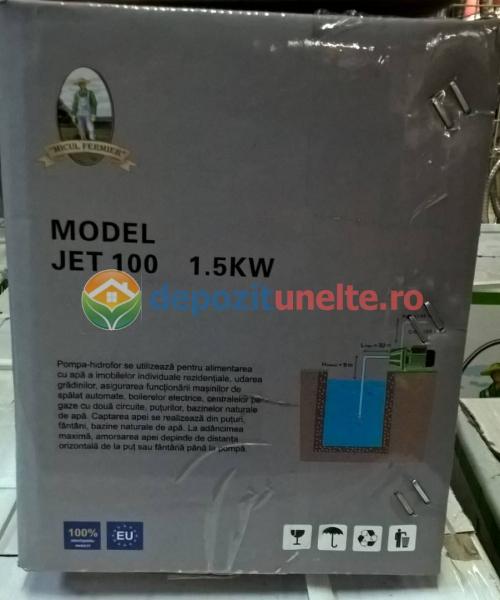 "Pompa apa de suprafata JET100L , 1500W, 1"" tol, 9 m 100% CUPRU 8"
