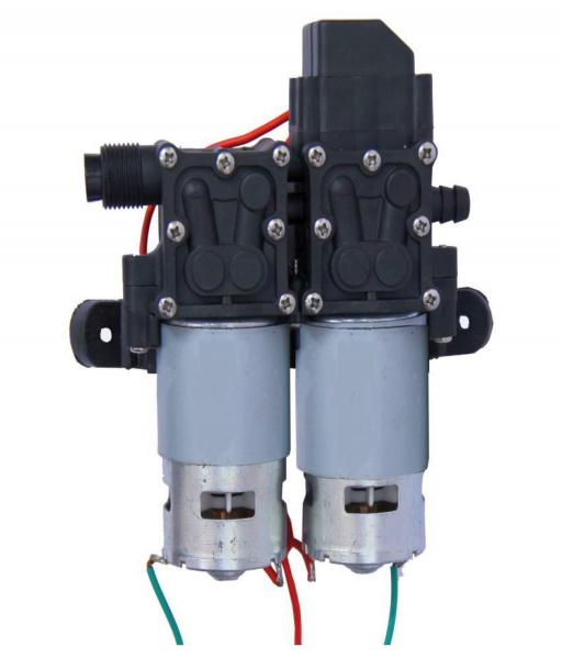 Pompa de apa cu presostat incorporat, autoamorsata, avand un corp dublu, alimentata la 12V cc, 3A  cu un debit de 8 litri / minut; Putere de 6.9bar (110PSI) 1