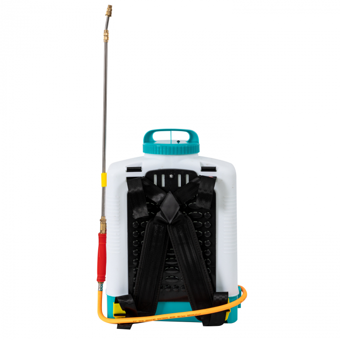 Pompa de stropit electrica cu acumulator 12V 8 Ah - 5,5 bari  suport lombar, 16 Litri  DETOOLZ cu FURTUN de PRESIUNE  DZ-P110 [4]