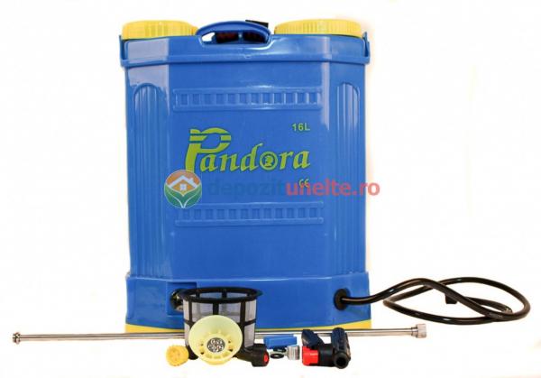 Pompa de stropit electrica cu acumulator Pandora 16L Micul fermier 2020 - Vermorel electric cu baterie 10
