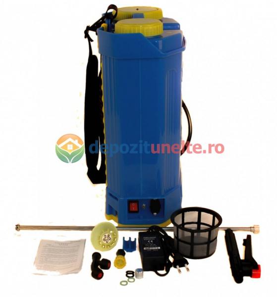 Pompa de stropit electrica cu acumulator Pandora 16L Micul fermier 2020 - Vermorel electric cu baterie 11