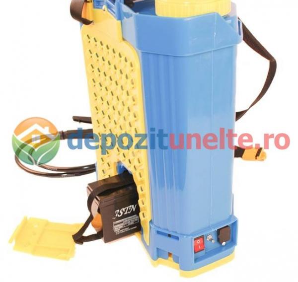 Pompa de stropit electrica cu acumulator Pandora 16L Micul fermier 2020 - Vermorel electric cu baterie 15