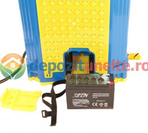 Pompa de stropit electrica cu acumulator Pandora 16L Micul fermier 2020 - Vermorel electric cu baterie 12