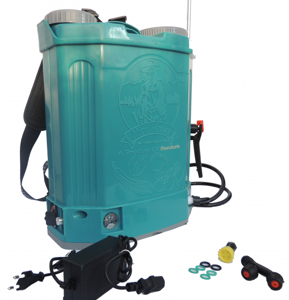 Pompa de stropit electrica cu acumulator Pandora 16L Micul fermier 2020 - Vermorel electric cu baterie [1]
