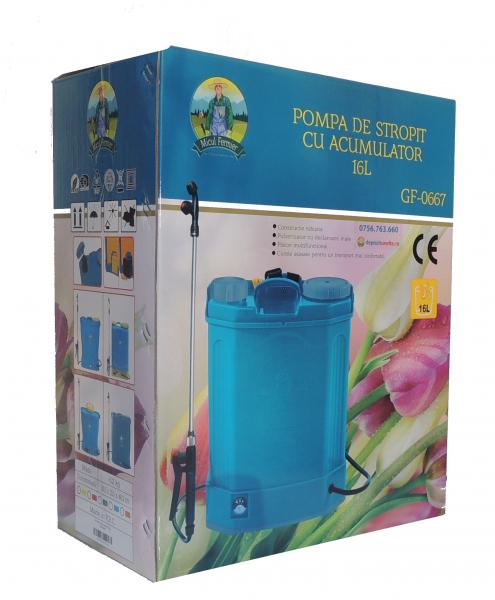 Pompa de stropit electrica cu acumulator Pandora 16L Micul fermier 2020 - Vermorel electric cu baterie [8]