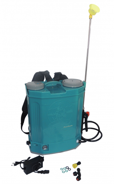 Pompa de stropit electrica cu acumulator Pandora 16L Micul fermier 2020 - Vermorel electric cu baterie [0]