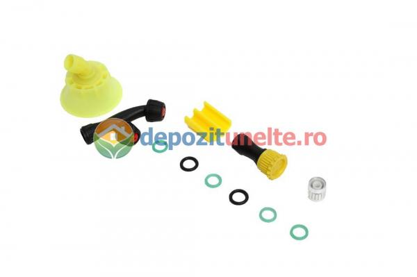Pompa de stropit electrica PANDORA 12L, vermorel electric cu acumulator de 12V 8Ah 5,5 bar si regulator de presiune 5