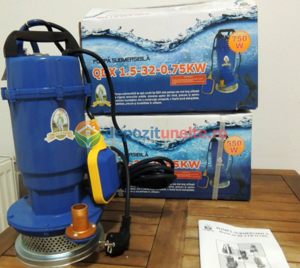 "Pompa submersibila cu plutitor QDX-32M Micul Fermier 0,75 kW; 32m; 1"" 6"